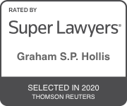 Rated by Super Lawyers Graham S.P. Hollis Selected in 2020 Thomson Reuters
