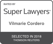 Rated by Super Lawyers Vilmarie Cordero Selected in 2018 Thomson Reuters